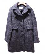 HANAE MORI(ハナエモリ)の古着「ウールコート」 グレー