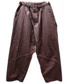 GROUND Y(グラウンドワイ)の古着「ナナメラインパンツ」|ブラウン