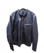 FREEDOM(フリーダム)の古着「レザーライダースジャケット」|ブラック