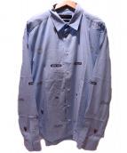 LOUIS VUITTON(ルイヴィトン)の古着「長袖シャツ」 スカイブルー
