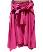 EPOCA(エポカ)の古着「リボンフレアスカート」 ピンク