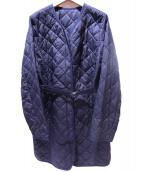 CARA O CRUZ(キャラオクルス)の古着「キルティングコート」|ネイビー