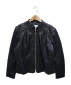 MANGO(マンゴ)の古着「レザージャケット」|ブラック