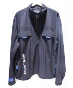 M+RC NOIR(マルシェノア)の古着「ハーフジップナイロンジャケット」 ブラック
