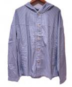 LIVING CONCEPT(リビングコンセプト)の古着「フーデットシャツジャケット」|スカイブルー