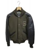 TMT(ティーエムティー)の古着「袖切替ジャケット」|カーキ×ブラック