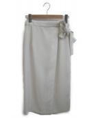 Lois CRAYON(ロイスクレヨン)の古着「ベルッドスカート」|ベージュ