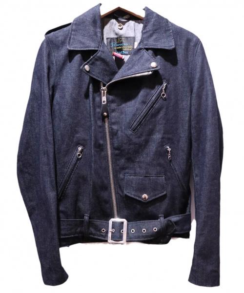 Schott(ショット)Schott (ショット) 別注デニムライダースジャケット インディゴ サイズ:S ×BEAMS  100周年記念 WHITE OAKの古着・服飾アイテム