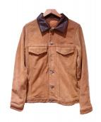 ISAMU KATAYAMA BACKLASH(イサムカタヤマバックラッシュ)の古着「切替レザージャケット」|ベージュ