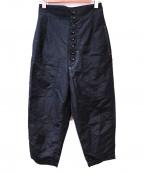 INSCRIRE(アンスクリア)の古着「ハイウエストパンツ」|ブラック
