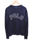 POLO RALPH LAUREN(ポロラルフローレン)の古着「ロゴスウェット」|ブラック