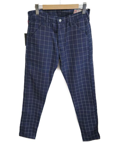EVISU(エビス)EVISU (エビス) チェックパンツ ネイビー サイズ:32の古着・服飾アイテム