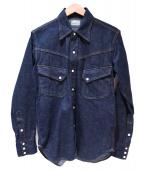 BURGUS PLUS(バーガスプラス)の古着「デニムウエスタンシャツ」|インディゴ