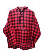 PROPER GANG(プロパーギャング)の古着「フーデットシャツ」|レッド