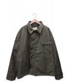 US NAVY(ユーエスネイビー)の古着「【OLD】70sA-2デッキジャケット」|カーキ
