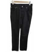 NUDIE JEANS(ヌーディージーンズ)の古着「スキニーパンツ」|ブラック
