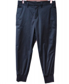 NEIL BARRETT(ニールバレット)の古着「BONDED JERSEY RIB CUFF PANT」|ブラック