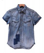 TMT(ティーエムティー)の古着「クラッシュデニムシャツ」|インディゴ