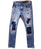 TMT(ティーエムティー)の古着「CRUSH UNPATCHED DENIM」|インディゴ