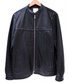 EDIFICE(エディフィス)の古着「シングルライダースジャケット」 ブラック