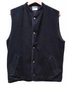 STABILIZER GNZ(スタビライザージーンズ)の古着「デニムベスト」 ブラック