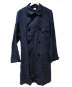 Yos Yo(ヨーズヨー)の古着「ロングコート」|ブラック