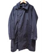 KAZUYUKI KUMAGAI ATTACHMENT(カズユキクマガイアタッチメント)の古着「ピーチスキン ダブルブレストロングコート」|ブラック