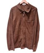 jakett NEW YORK(ジャケットニューヨーク)の古着「レザージャケット」 ブラウン