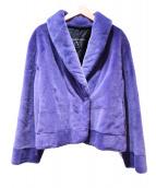 VALENTINO(バレンチノ)の古着「シェアードミンクコート」|パープル