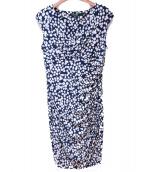 LAUREN RALPH LAUREN(ローレン ラルフローレン)の古着「総柄ワンピース」|ブルー