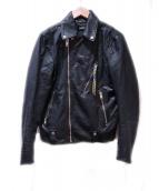 DIESEL(ディーゼル)の古着「レザージャケット」|ブラック