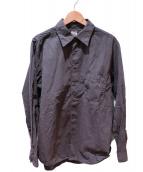 C.P COMPANY(シーピーカンパニ)の古着「ワッシャー加工オーバシャツ」|ブラック