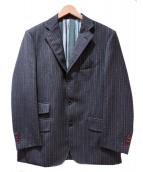 ETRO(エトロ)の古着「セットアップスーツ」|ブラウン×グリーン