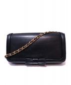 KITAMURA(キタムラ)の古着「リボンチェーンショルダーバッグ」|ブラック