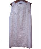 MAX&Co.(マックスアンドコ)の古着「サイドプリーツノースリーブワンピース」|ホワイト