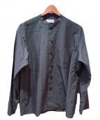 Phlannel(フランネル)の古着「Wool Silk End On End CockShirt」 グレー