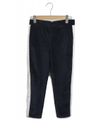 MSGM(エムエスジーエム)の古着「サイドラインパンツ」|ブラック