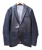 INTERMEZZO(インターメッツォ)の古着「テーラードレザージャケット」|ブラック