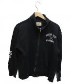 VANSON()の古着「ジップスウェット」 ブラック