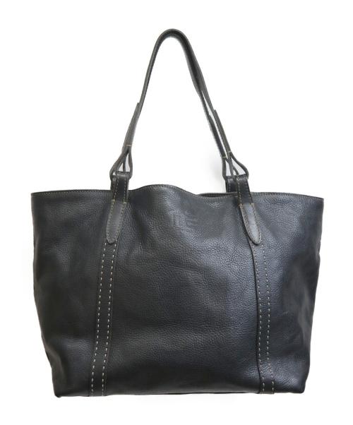 genten(ゲンテン)genten (ゲンテン) ハンドバッグ ブラックの古着・服飾アイテム