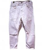 bukht(ブフト)の古着「カットオフホワイトデニムパンツ」 ホワイト