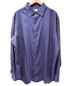 BRIONI(ブリオーニ)の古着「コットンシルクシャツ」|ネイビー