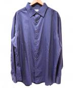 BRIONI(ブリオーニ)の古着「コットンシルクシャツ」 ネイビー