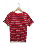 KITSUNE(キツネ)の古着「ポケットTシャツ」|レッド
