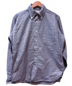 BLACK FLEECE BY Brooks Brothers(ブラックフリース バイ ブルックスブラザーズ)の古着「チェックシャツ」 グレー