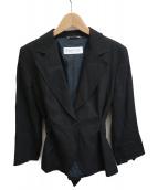 MaxMara(マックスマーラ)の古着「リネンジャケット」|ブラック