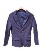 JAPAN BLUE(ジャパンブルー)の古着「インディゴストレッチテーラードジャケット」 インディゴ