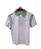 BOSS HUGO BOSS(ボスヒューゴボス)の古着「ポロシャツ」 ホワイト×グリーン