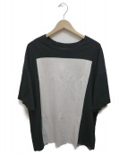 My Beautiful Landlet(マイ ビューティフル ランドレット)の古着「スクエア切替Tシャツ」|ブラック