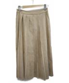 INED(イネド)の古着「フロントプリーツスカート」 ベージュ